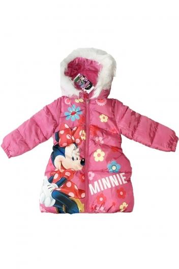Geaca de iarna roz Minnie Mouse Flowers - 1